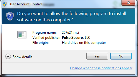 Pulse Secure VPN Client on Windows   UC Santa Barbara Information