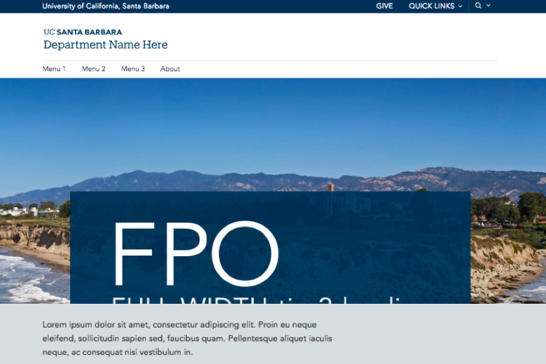 ucsb website theme