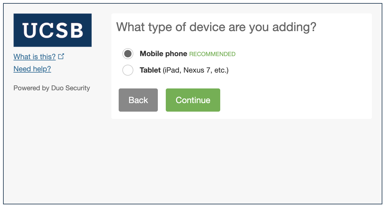 What type of device are you adding?